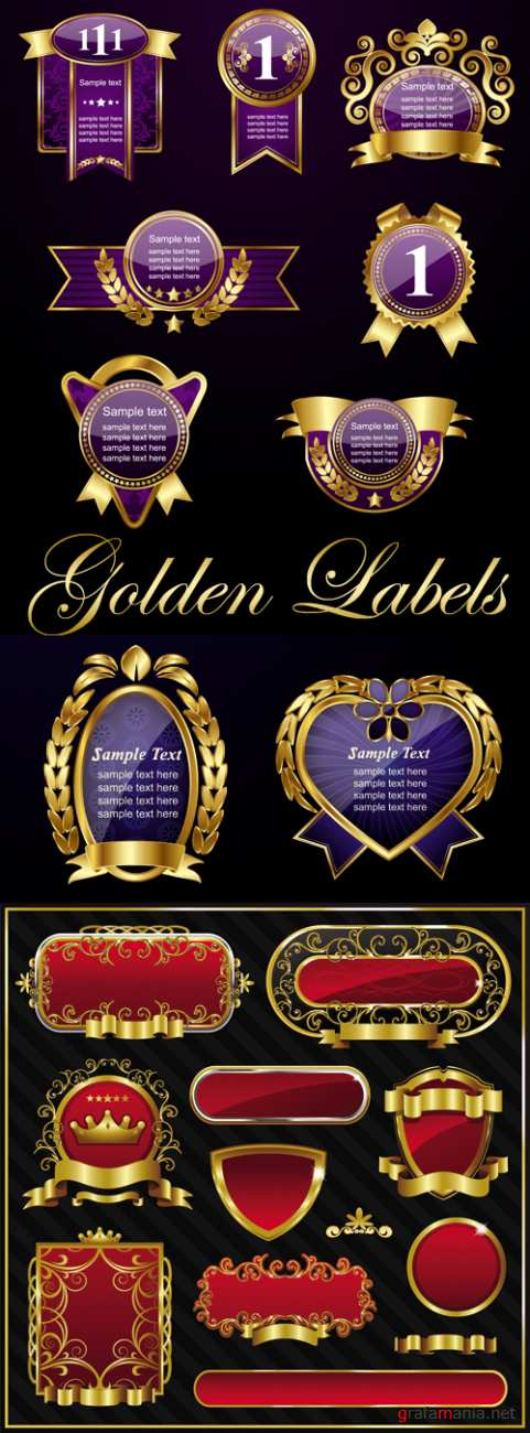 Golden Labels Vector 2