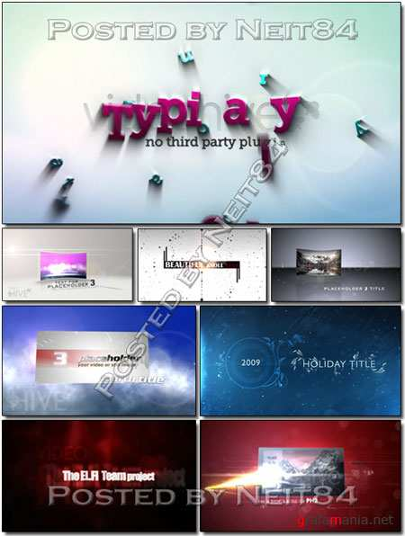 8 Template Project After Effects about Titles