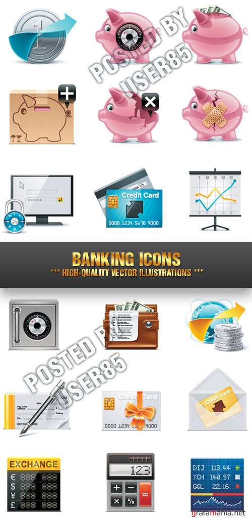 Stock Vecor - Banking Icons
