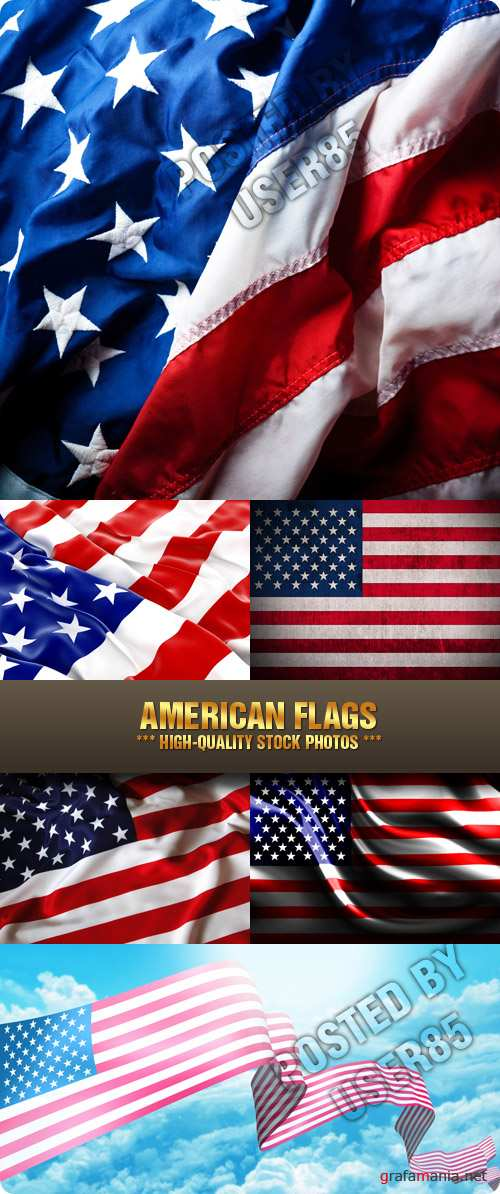 Stock Photo - American Flags