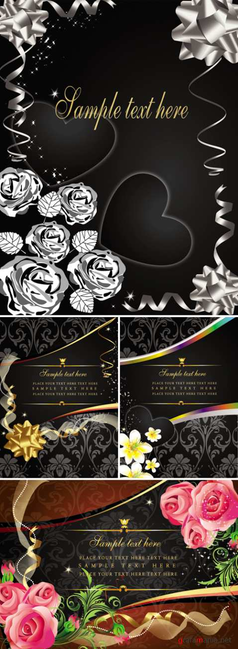 Luxury Greeting Cards Vector