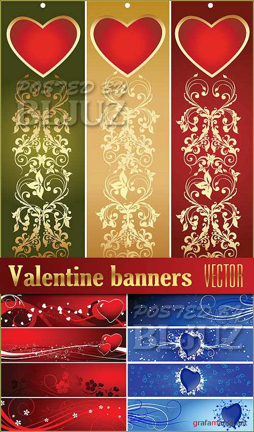 Valentine Banners Vector