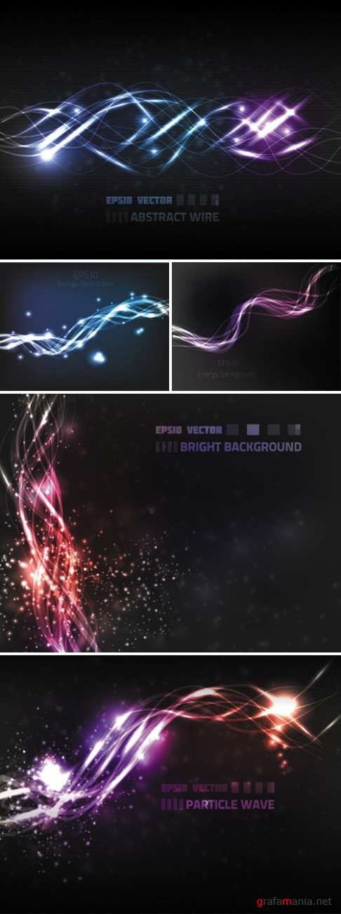 Bright Wave Backgrounds Vector