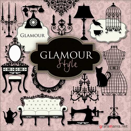 Glamour style scrap