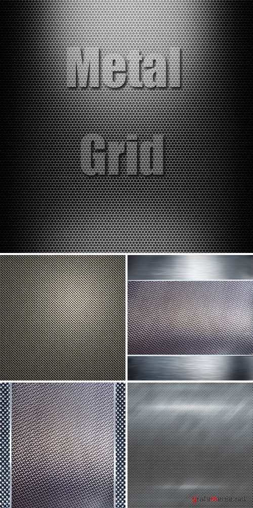 Stock Photo - Metal Grid
