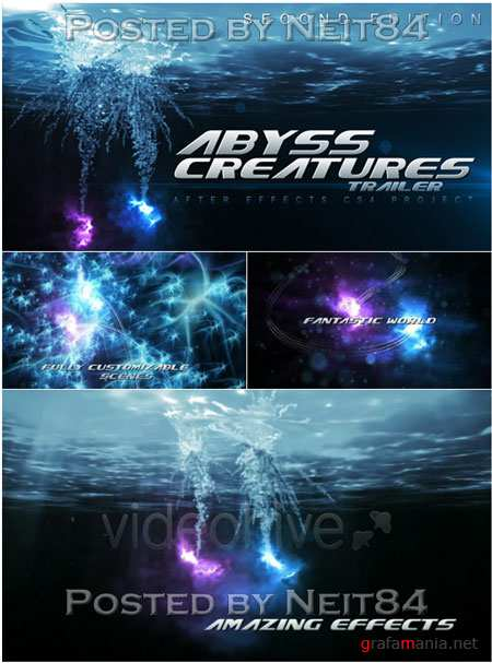 Videohive Abyss Creatures Trailer after effect project