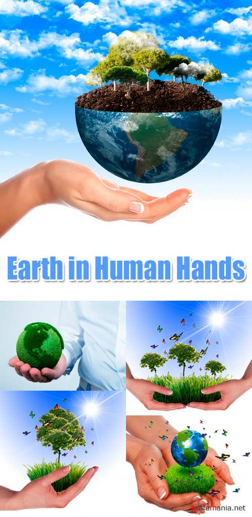 Stock Photo - Earth in Human Hands