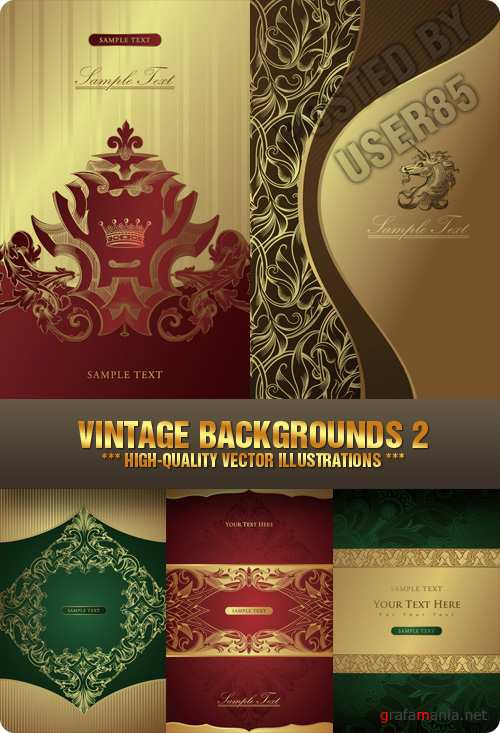 Stock Vector - Vintage Backgrounds 2