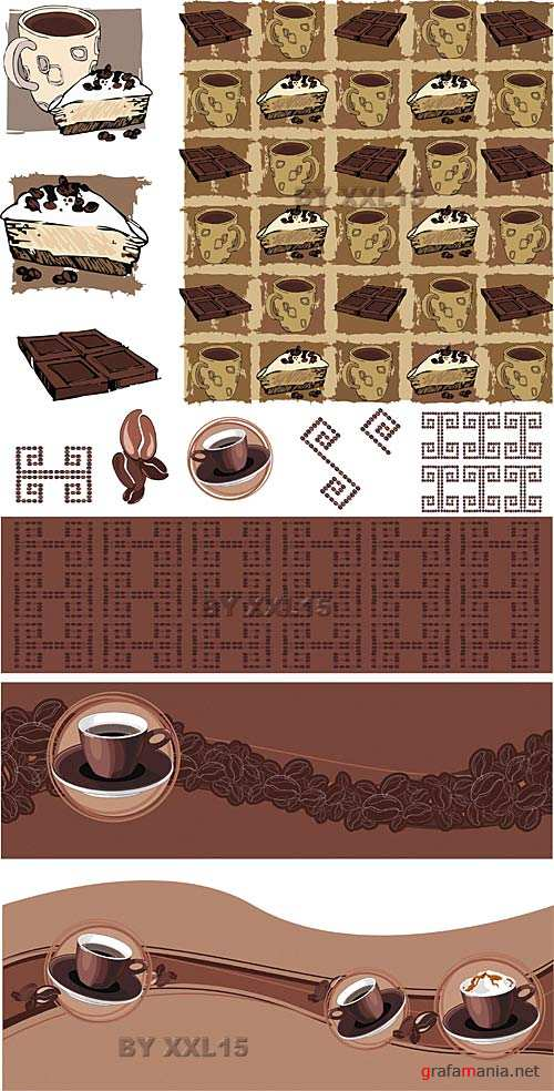 Coffee vector backgrounds