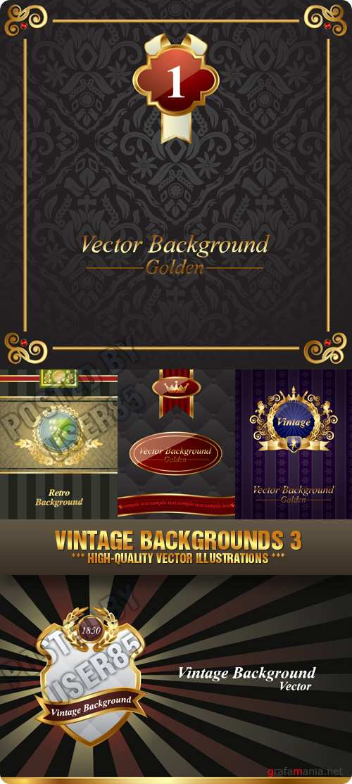 Stock Vector - Vintage Backgrounds 3