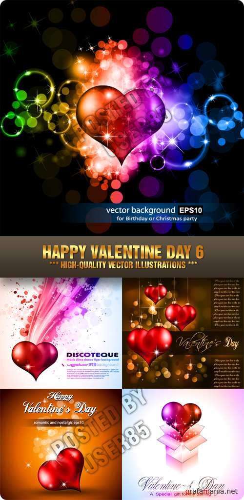Stock Vector - Happy Valentine Day 6