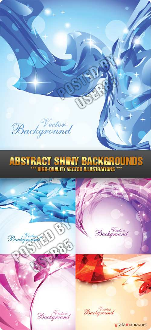 Stock Vector - Abstract Shiny Backgrounds