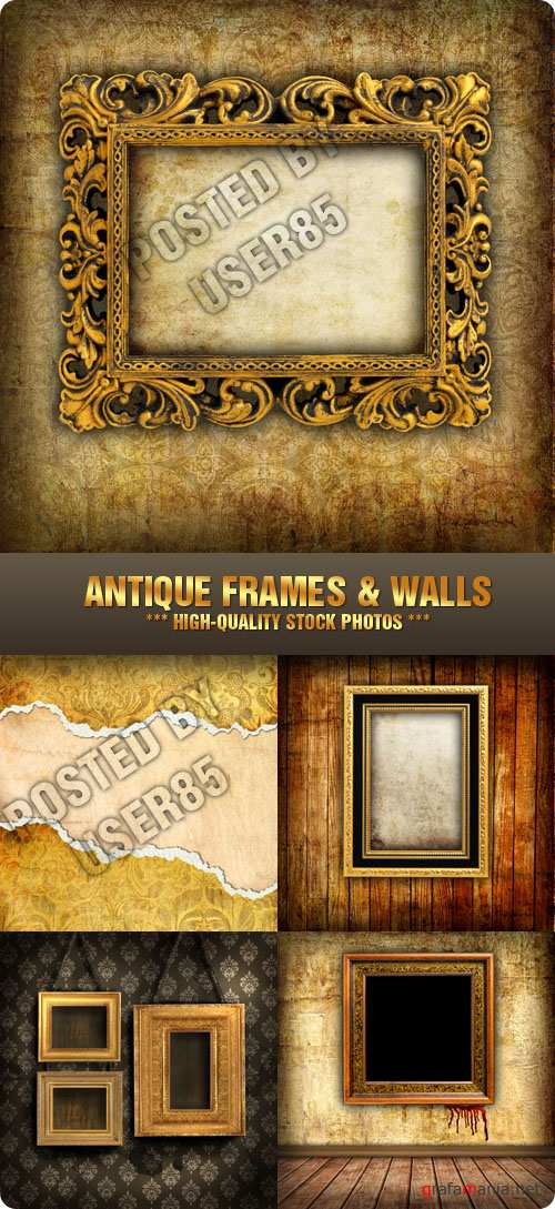 Stock Photo - Antique Frames & Walls