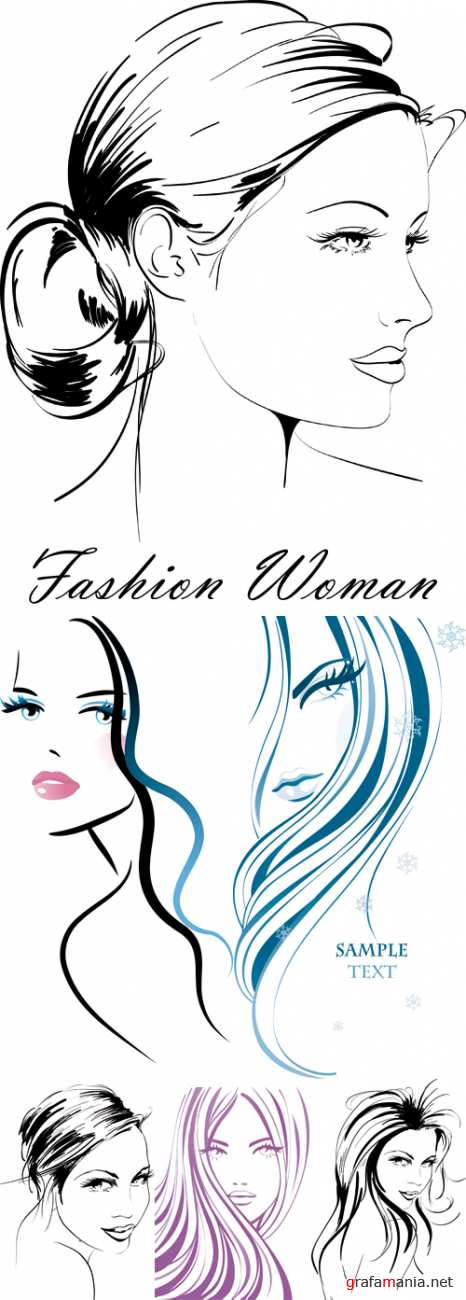 Hand Drawn Fashion Woman Vector