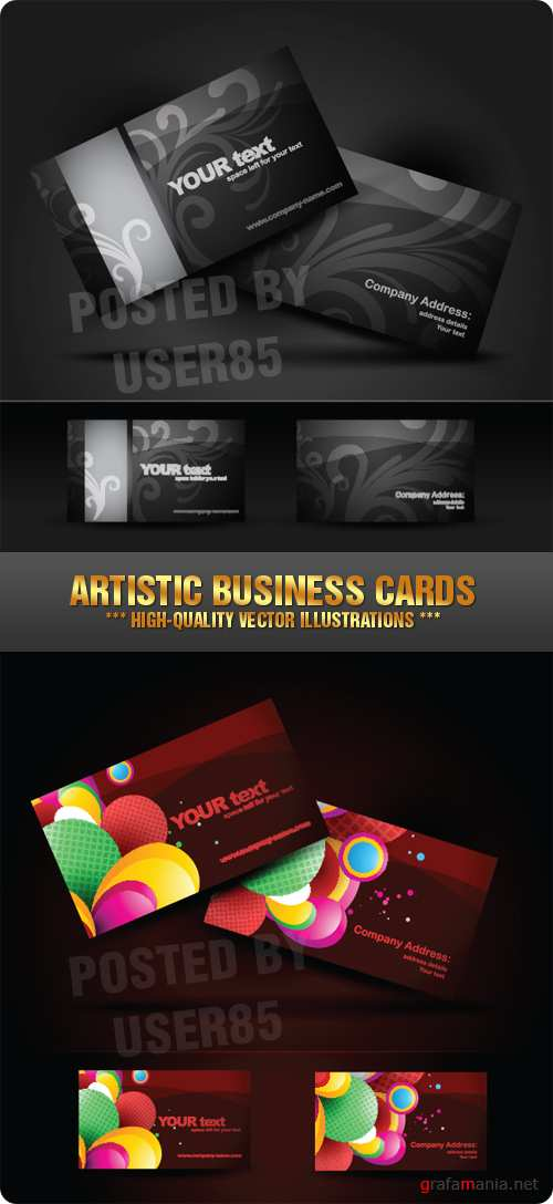 Stock Vector - Artistic Business Cards