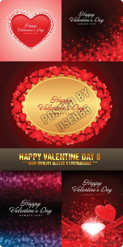 Stock Vector - Happy Valentine Day 8