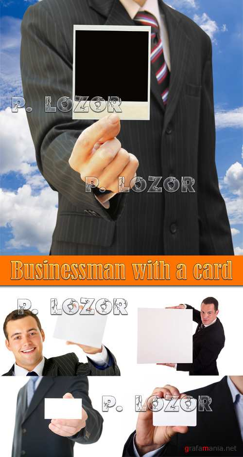Businessman with a card