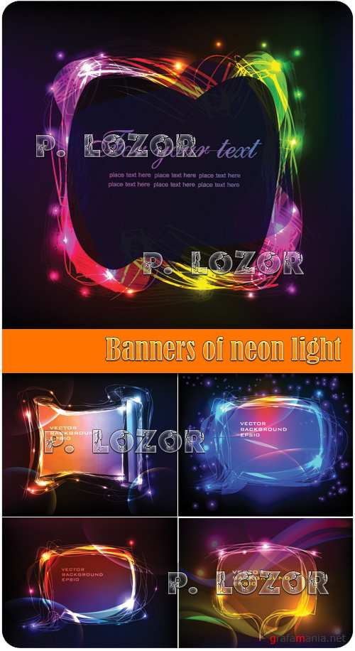 Banners of neon light