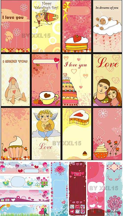Love cards and banners