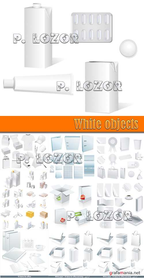 White objects