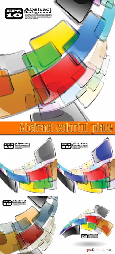 Abstract colorful plate