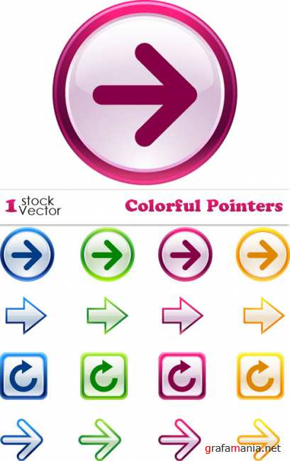 Colorful Pointers Vector