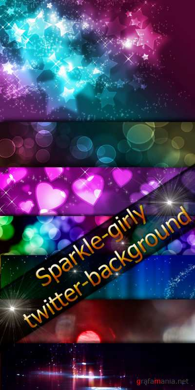 Sparkle girly twitter background