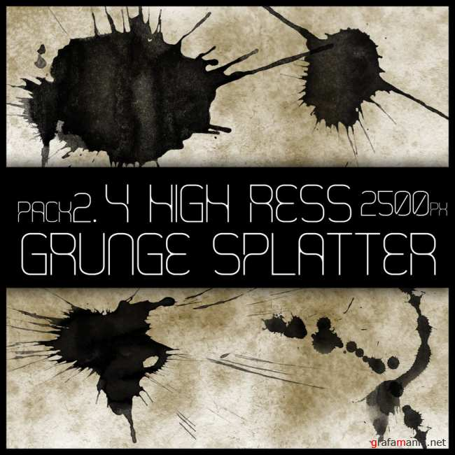HR Grunge Splat Brushes