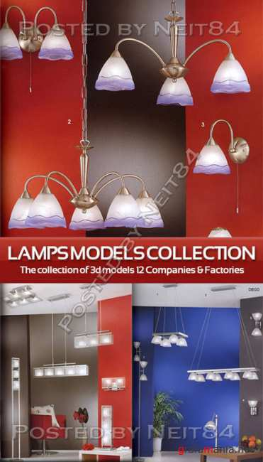 Models of lamps 12 different companies and factories