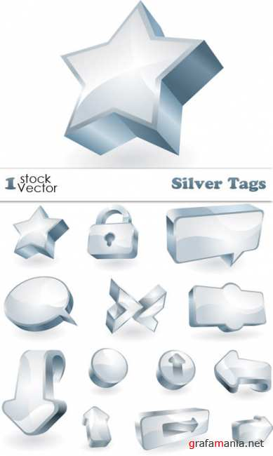 Silver Tags Vector