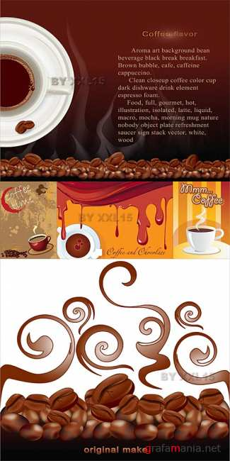 Coffee vector backgrounds 2