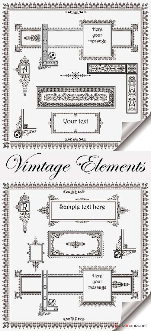 Vintage Design Elements Vector 2