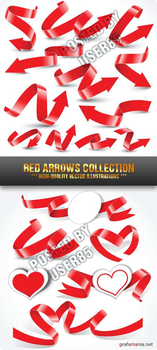 Stock Vector - Red Arrows Collection