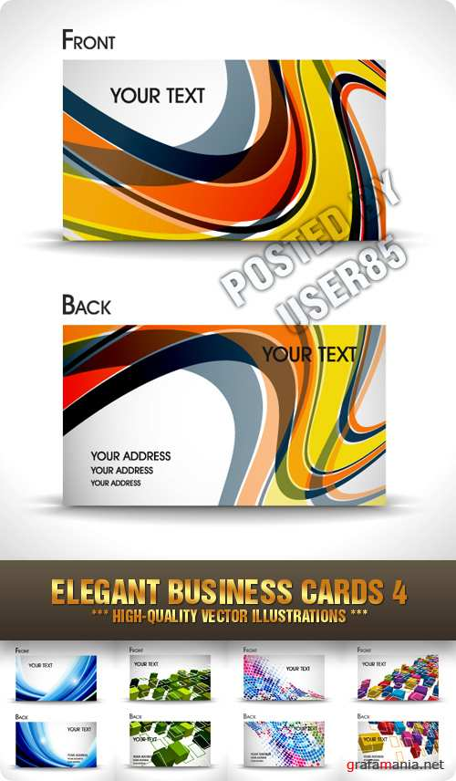 Stock Vector - Elegant Business Cards 4