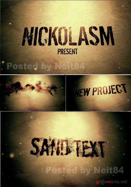 After Effects Project Sand text 128417