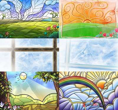 PSD Layered Pictures - Windows, Vitrages, Sstained-glass Windows