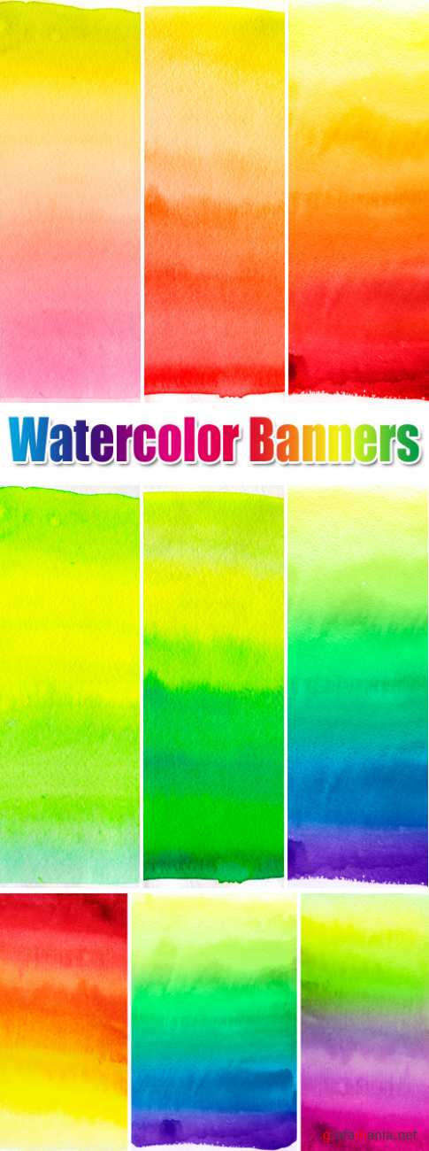 Stock Photo - Watercolor Banners