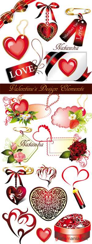 Valentine's Design Elements - Stock Vectors