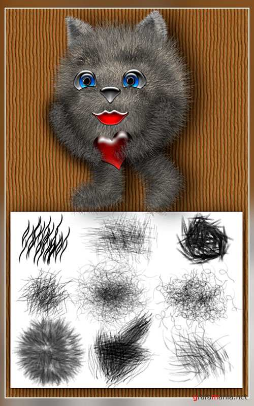 Brushes for Photoshop Fur