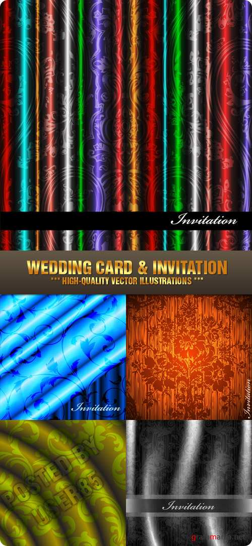 Stock Vector - Wedding Card & Invitation
