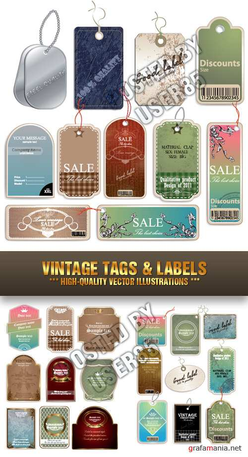 Stock Vector - Vintage Tags & Labels