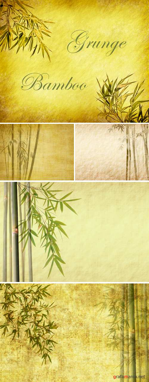 Stock Photo - Grunge Bamboo Backgrounds