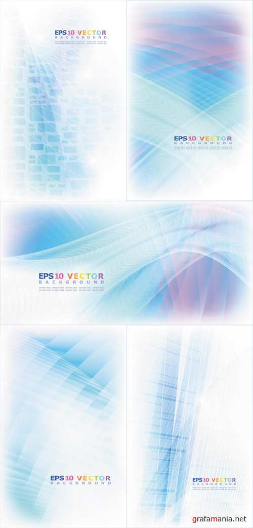 Blue Soft Backgrounds Vector