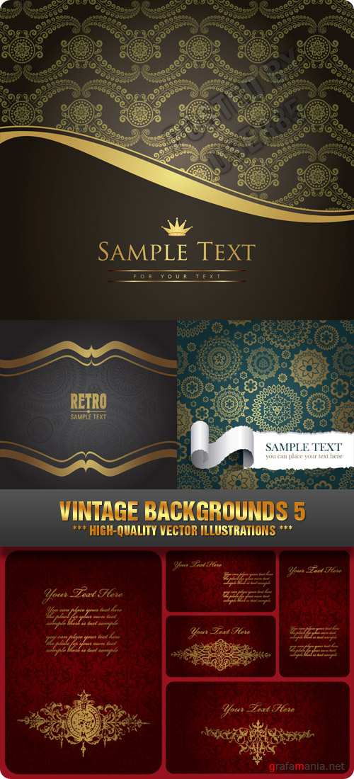 Stock Vector - Vintage Backgrounds 5