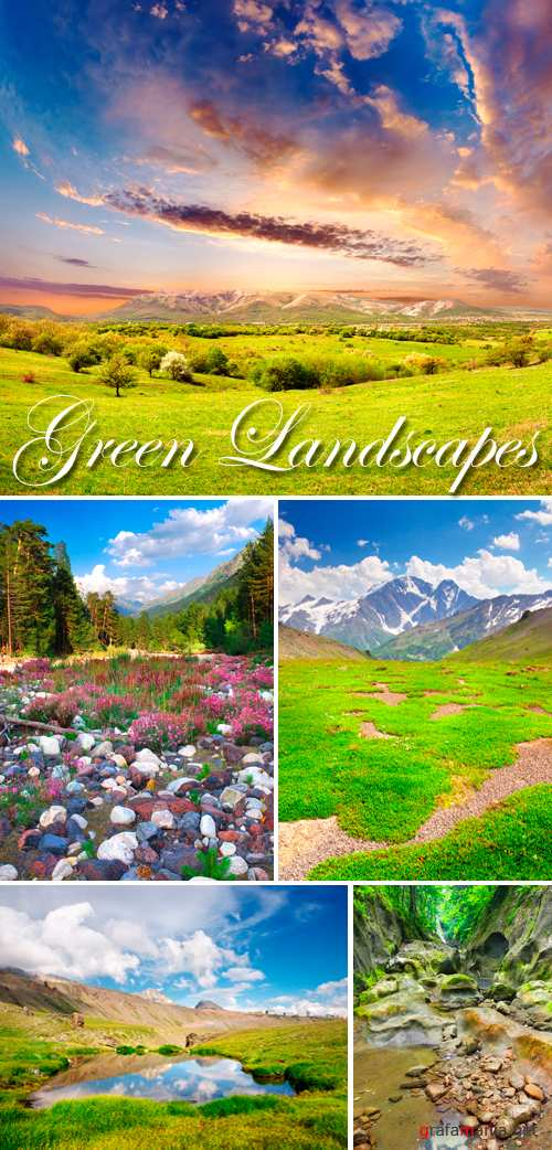 Stock Photo - Green Landscapes