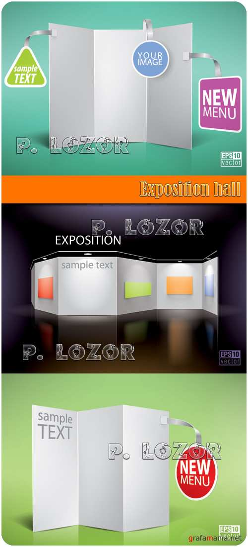 Exposition hall vector clipart