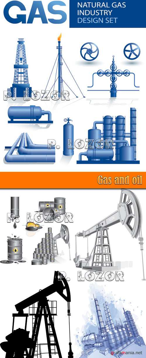 Gas and oil vector clipart
