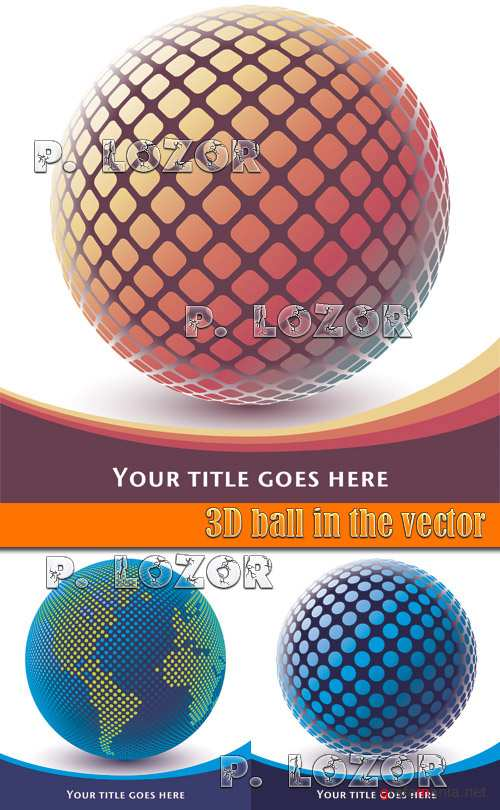 3D ball in the vector