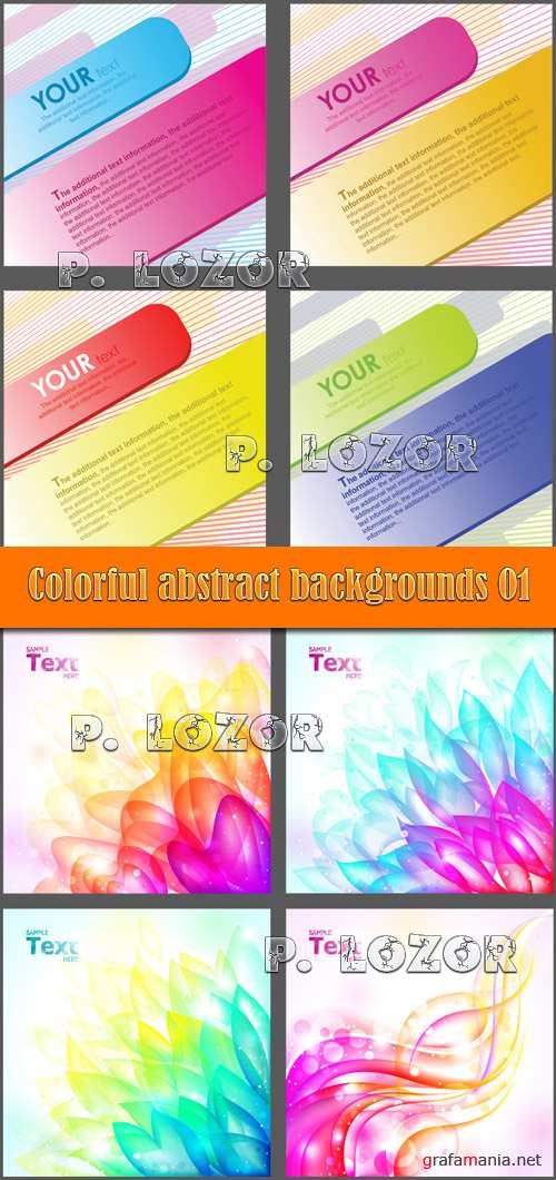 Colorful abstract backgrounds 01