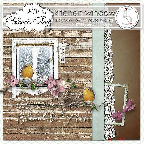 Скрап-набор – Kitchen window